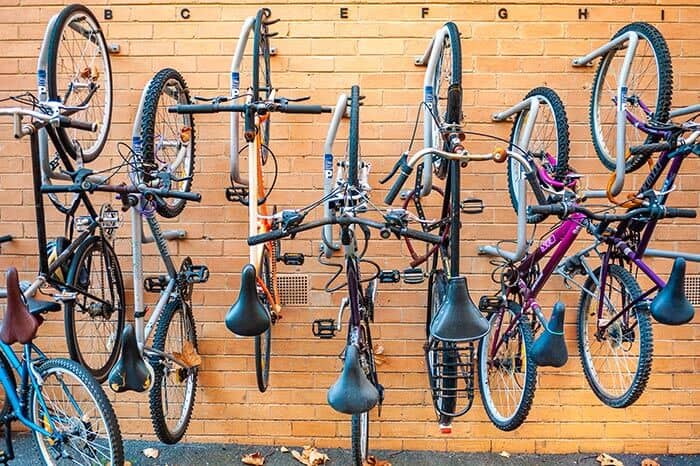 is it bad to store a bike upside down