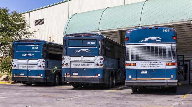 do Greyhound buses have bike racks